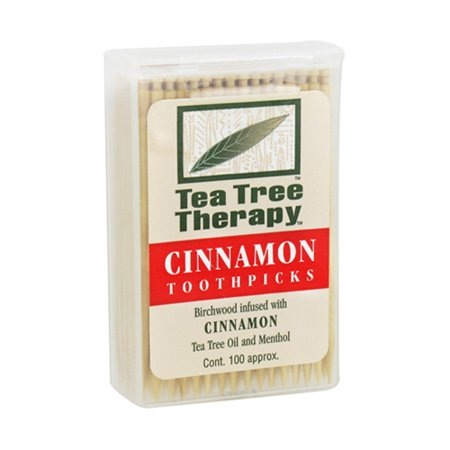 Tea Tree Therapy Toothpicks, Cinnamon - 100 Ea, 3 Pack - Long Toothpicks