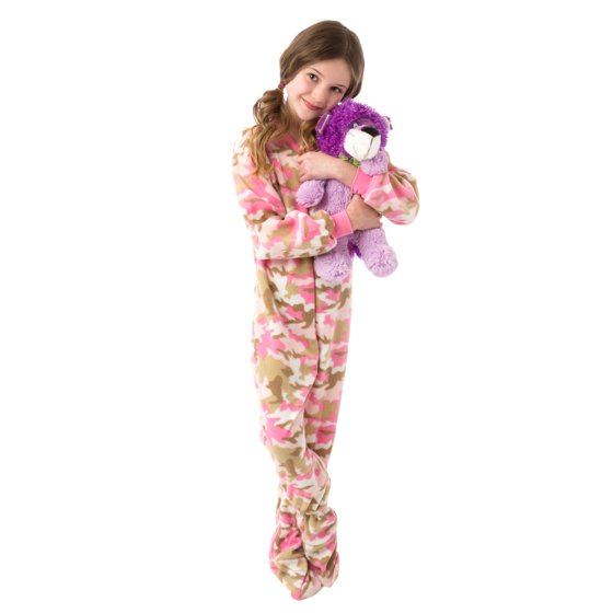 8d14a8332 Big Feet Pajamas - Little Girls Infant Toddler Pink Camo Fleece ...