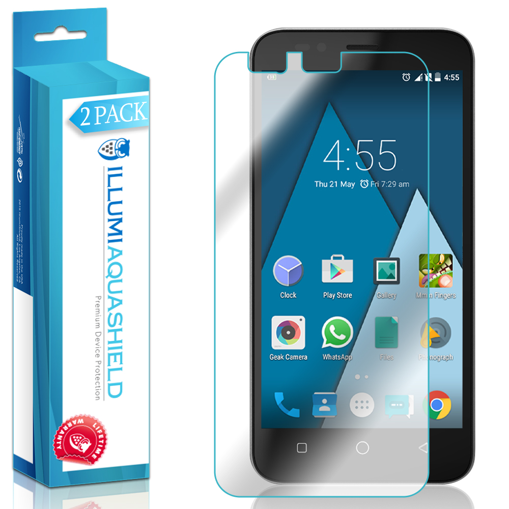 2x iLLumi AquaShield Clear Screen Protector Cover for Coolpad Catalyst