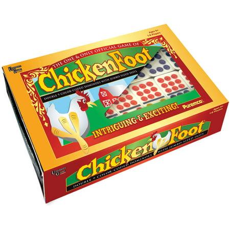 Chickenfoot Professional Dominoes (Black Dot Domino Set)