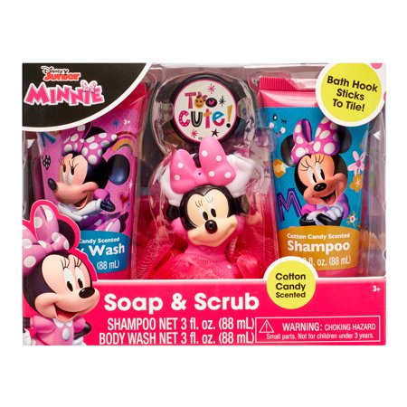 Disney Junior Minnie 4-Piece Soap and Scrub Body Wash and Shampoo Set