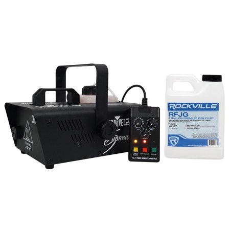 Chauvet DJ H1200 Hurricane 1200 Fog Machine W/Remote Timer-18,000 CFM+Fog Fluid - Fog Machine Timer