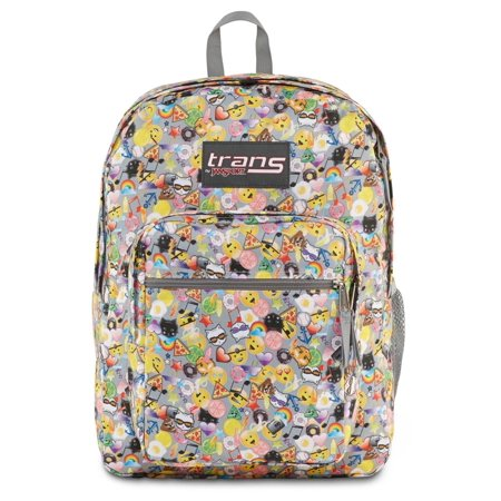 Trans by Jansport Supermax Multi Emoticon Backpack Sport School ...