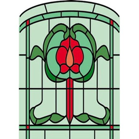Dollhouse Sim. Stained Glass Fits Cla76018/Hw6018 (22506 Simulated Stained Glass)