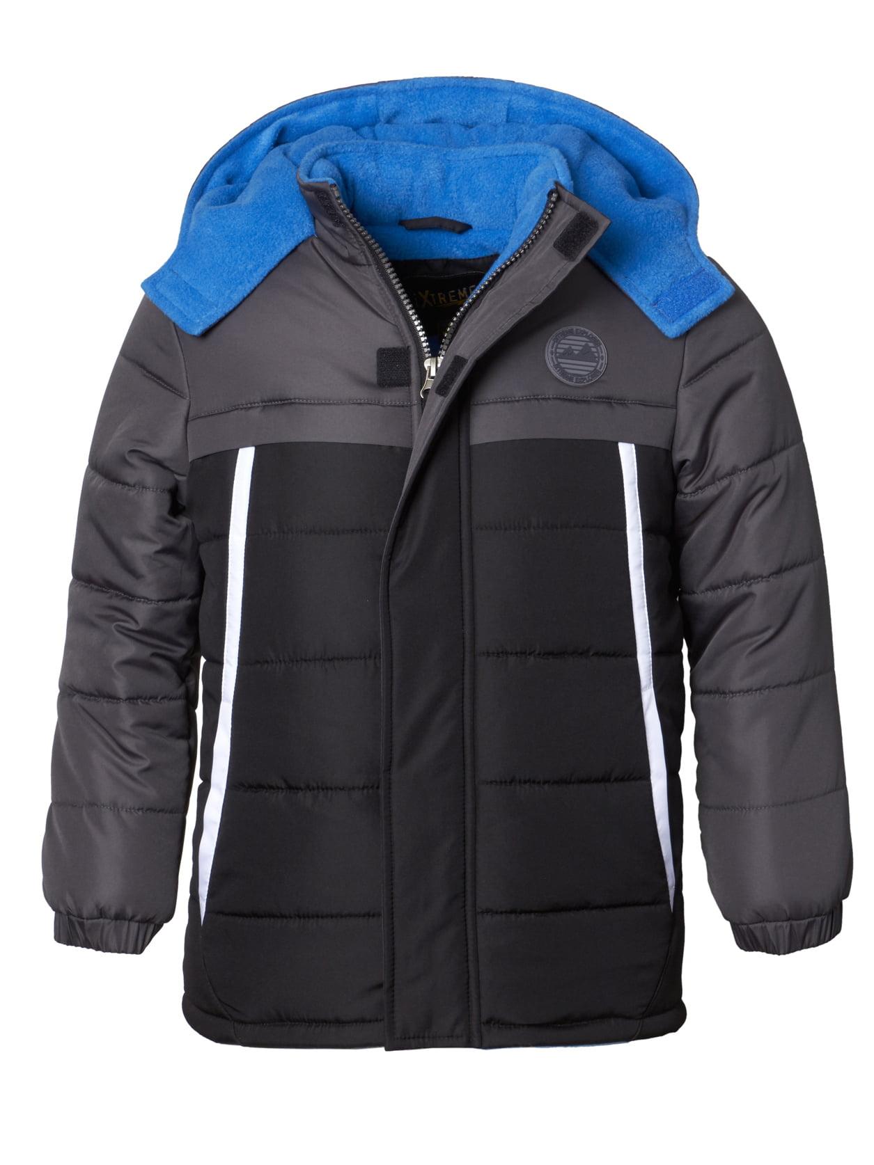 Hooded Tonal Colorblock Puffer Jacket Coat (Baby Boys & Toddler Boys)