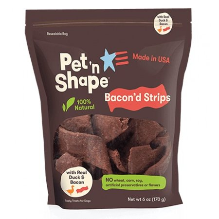 Pet N Shape Bacond Strips With Duck And Bacon - 6 oz