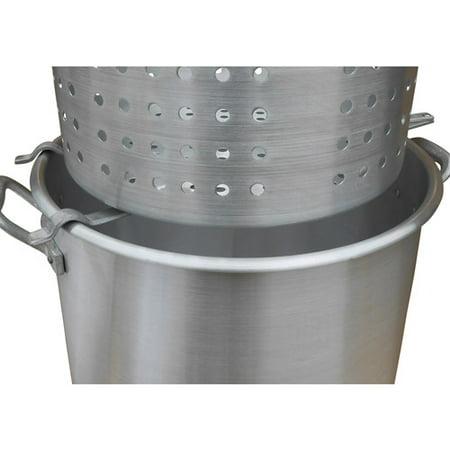 King Kooker #00064 - Aluminum Strainer Rack for Draining (Large) Baskets - Ergonomic design allows liquid to drain off of the basket. (crawfish, shrimp, crab, peanuts, corn, potatoes,
