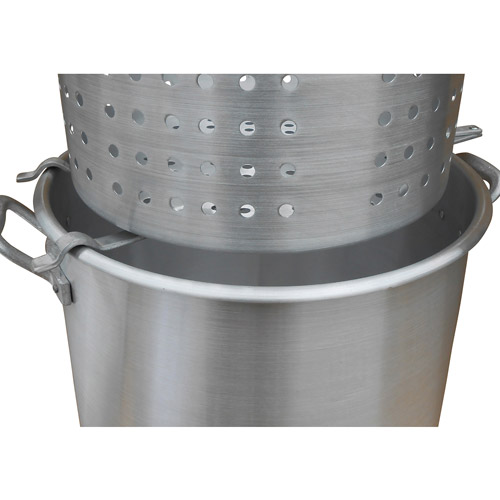 King Kooker #00064 - Aluminum Strainer Rack for Draining (Large) Baskets - Ergonomic design allows liquid to drain off of the basket. (crawfish, shrimp, crab, peanuts, corn, potatoes, etc.)