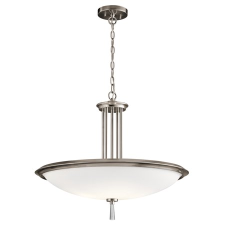 Pendants 4 Light With Classic Pewter Finish Steel Material Medium 24 inch 400 Watts ()