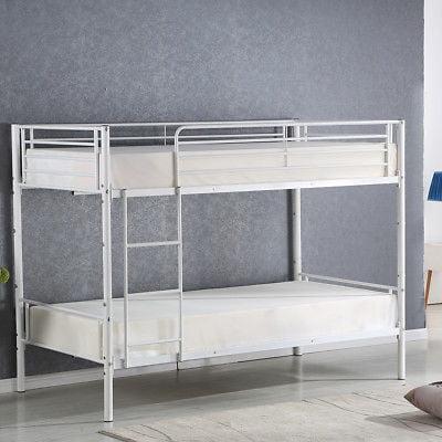 Gymax Metal Twin Bunk Over Beds Frame Ladder Bedroom Dorm Adult Children
