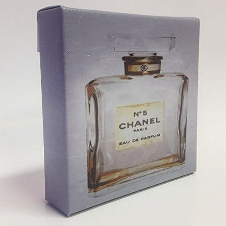 Chanel No. 5 in Golden Chic Art 6x6 Mini CANVAS Gallery Wrap can HANG or SIT! Art Office and Home ideas