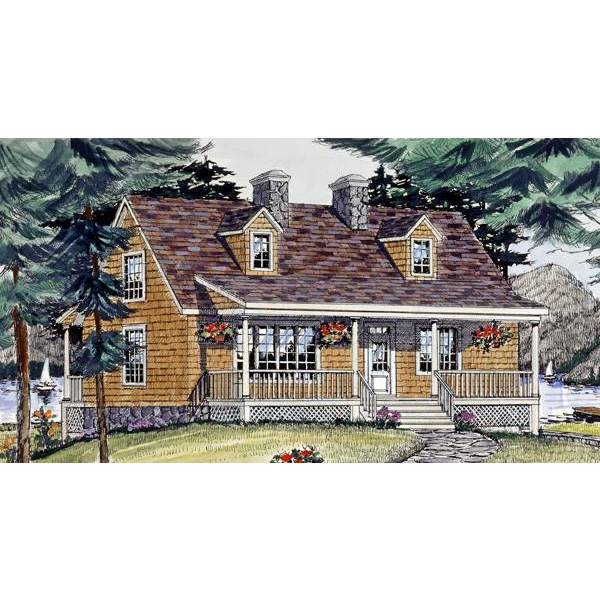 TheHouseDesigners-2804 Country House Plan with Crawl Space Foundation (5 Printed Sets)