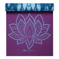 Gaiam Premium Print Reversible Yoga Mat, Sheer Vibe, 6mm
