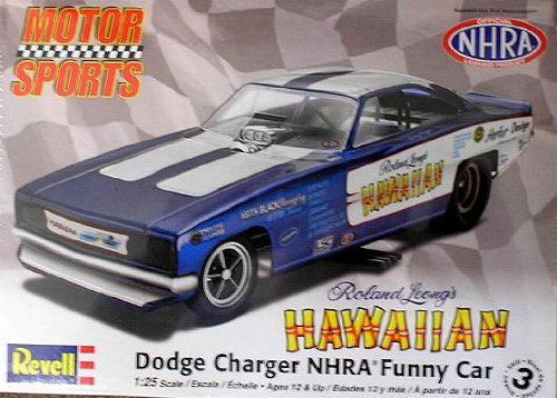 Roland Leong's Hawaiian Dodge Charger NHRA Funny Car 1 25 Scale Model Kit, Kit features a... by