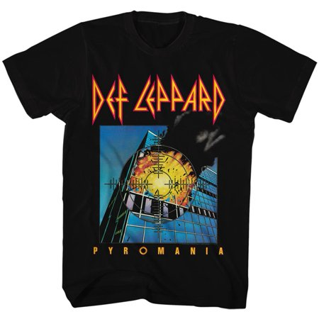 80s Male Hair (Def Leppard 80s Heavy Hair Metal Band Rock and Roll Pyromania Adult T-Shirt)