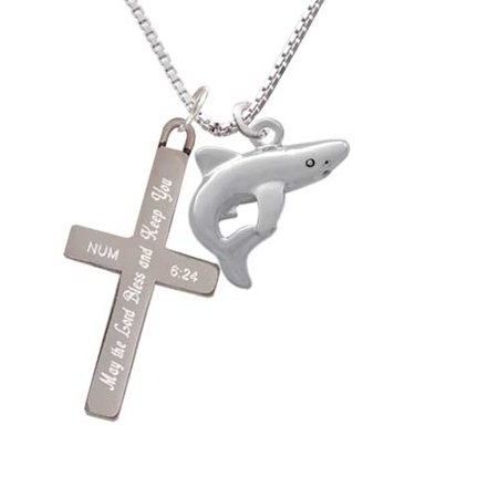 Shark - Bless and Keep You - Cross Necklace