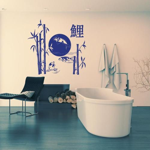 Style and Apply Koi Lake Vinyl Wall Art Decal
