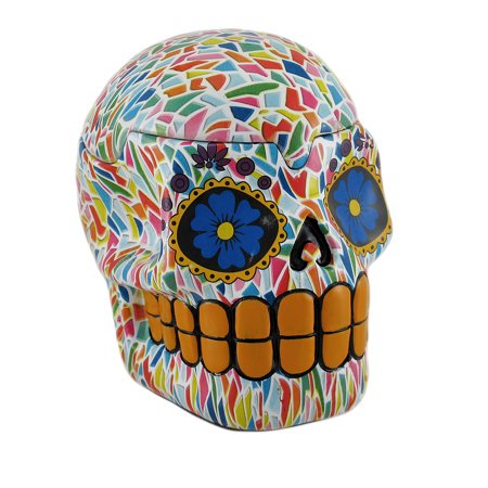 Colorful Mosaic Print Sugar Skull Large Trinket/Stash Box