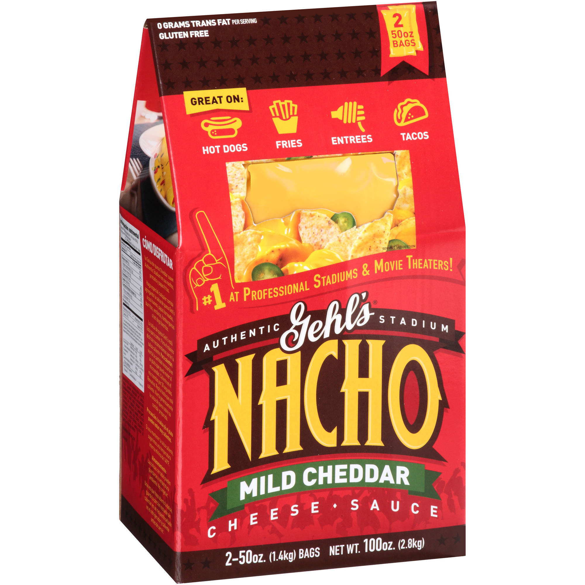 Gehl's Authentic Stadium Nacho Mild Cheddar Cheese Sauce, 50 oz, 2 count by GEHL GUERNSEY FARMS INC