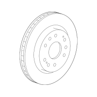 Genuine OE GM Disc Brake Rotor 23144340