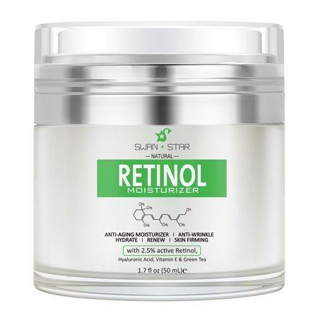 SWAN ☆ STAR Retinol Moisturizer Anti Aging Cream - Anti Wrinkle Lotion - Face & Neck - Helps Reduce Appearance of Wrinkles, Crows Feet, Circles & Fine Lines - With Vitamin C Hyaluronic Acid