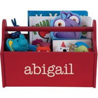Personalized My Name Red Toy Caddy