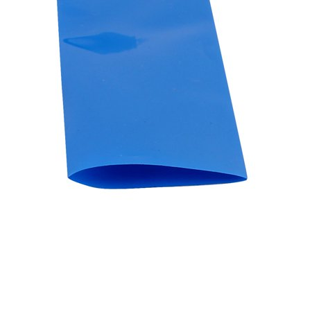 30mm Flat Width 2M Length PVC Heat Shrink Tube Blue for 18650 Batteries - image 2 of 2