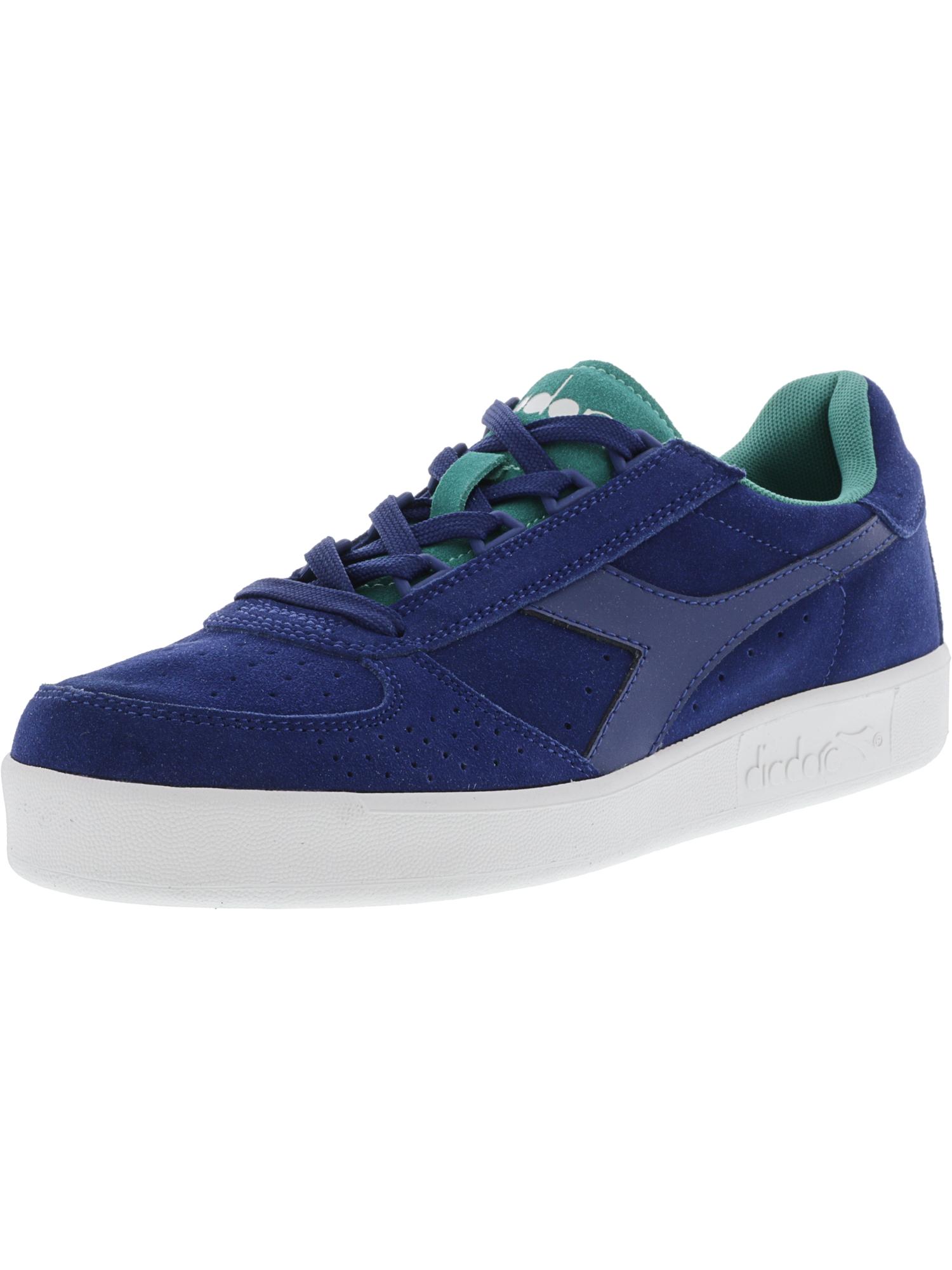 Diadora Men's B Elite Suede Estate Blue / Porcelain Green Ankle-High Fashion Sneaker - 9M