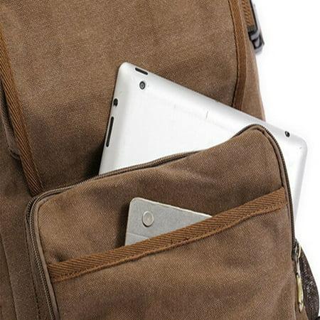 Meigar Men Retro Canvas Shoulder Bag Travel Tactical Backpack - image 6 de 9