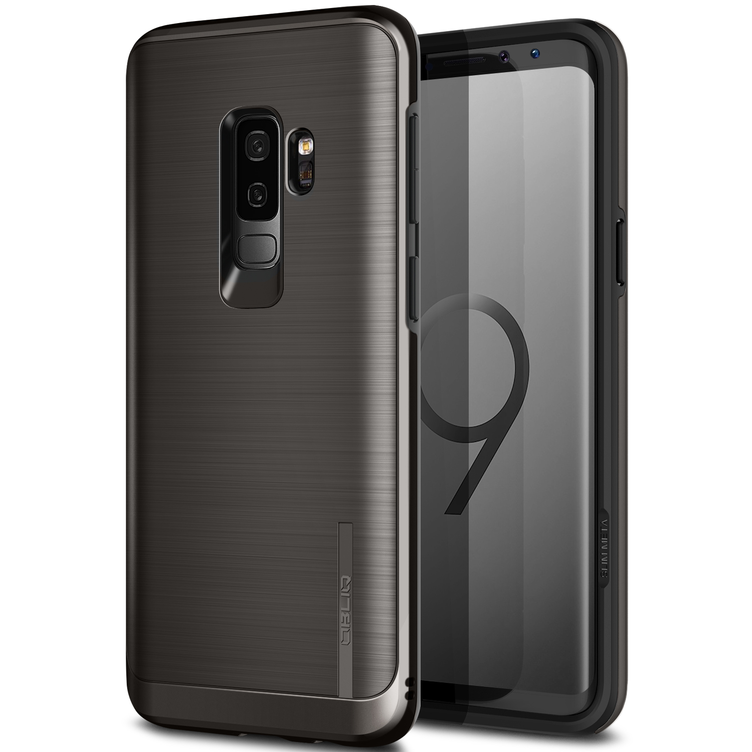 Galaxy S9 PLUS Case, OBLIQ [Slim Meta][Titanium Black] Ultra Slim Design and Impact resistant and Shock Absorbing protection Cover for Samsung Galaxy S9 PLUS (2018)