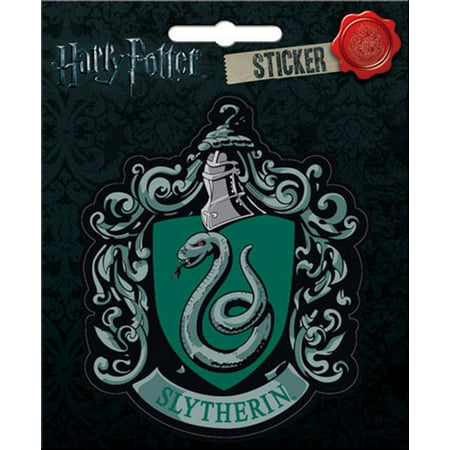 Harry Potter - Slytherin Crest - Die Cut Vinyl Sticker (Slytherin Decal)