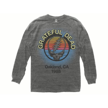Grateful Dead Oakland, CA 1988 Adult Long Sleeve Heather Grey