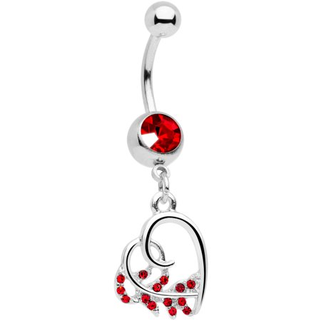 Red Belly Button Navel Ring (Body Candy 14G 7/16