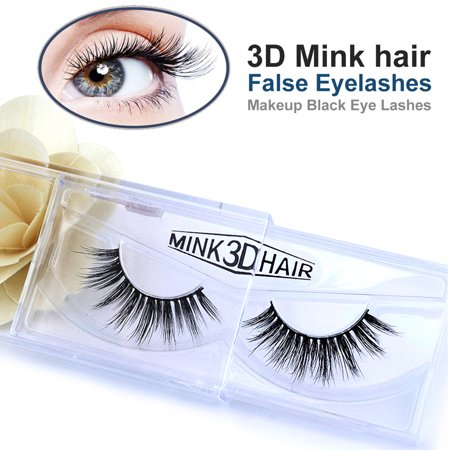 Luxurious Real 3D Mink False Eyelashes Cross Natural Long Reusable Fake EyeLashes Makeup for (Eyelashes Makeup)