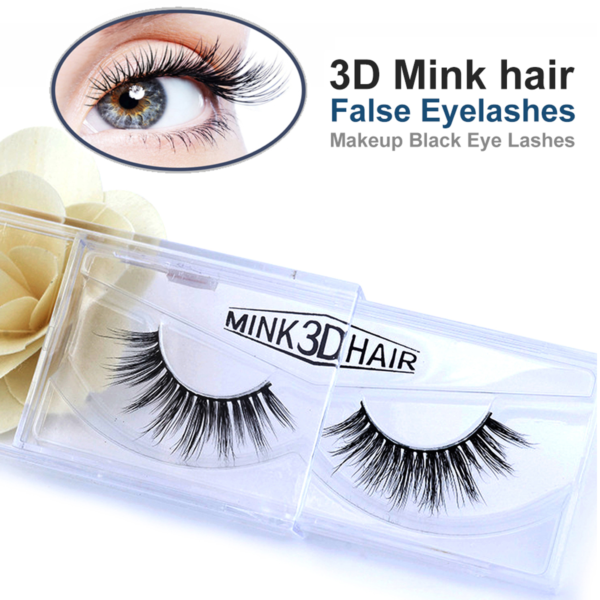Luxurious Real 3D Mink False Eyelashes Cross Natural Long Fake Eye Lashes Makeup Reusable