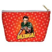 Big Bang Theory Bazinga Accessory Pouch White 8.5X6