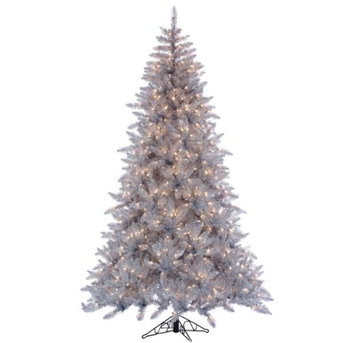 7.5' Pre-Lit Silver Ashley Spruce Artificial Christmas Tree - Clear Lights