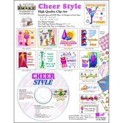 ScrapSMART Cheer Style CD-ROM: Cheerleading Clip-Art, Colorful Illustrations for Scrapbook, Craft, Sewing