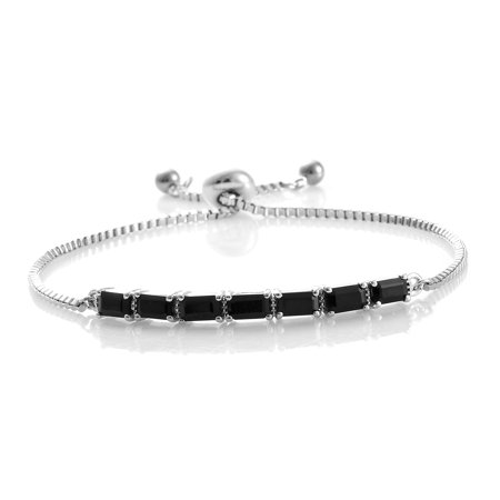 Bliss Peridot Bracelet (Mix Metal Octagon Black Spinel Bolo Bracelet for Women Cttw 2.3 )