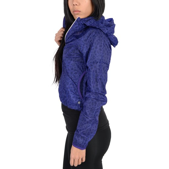 1ef05850702f1 Adidas - Adidas Womens Pattern Lightweight Windbreaker Jacket Indigo ...