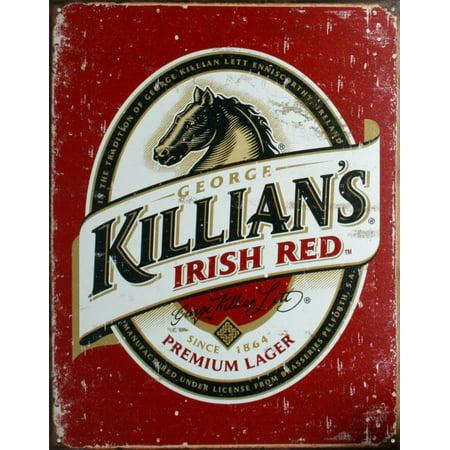 Killians Irish Red Tin Sign - -