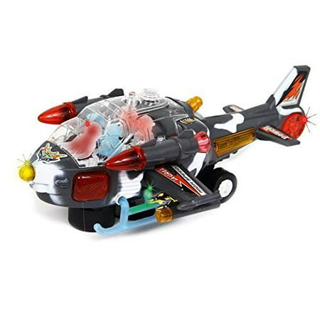 dazzling toys Scary Riding Military Power Helicopter with Lights and Sounds](Scare Sounds)