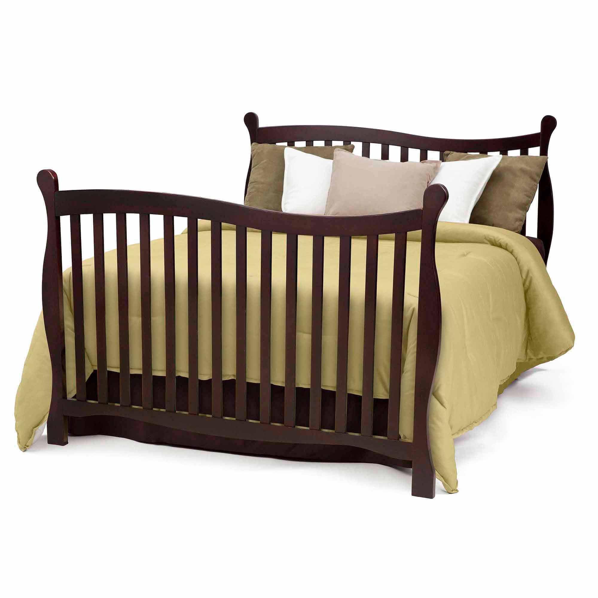 Crib for sale at walmart - Delta Children Brookside 4 In 1 Convertible Crib Dark Chocolate Walmart Com