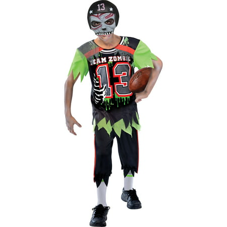 Suit Yourself Zombie Football Player Halloween Costume for Boys, with Mask](Hockey Player Halloween Costume Women)