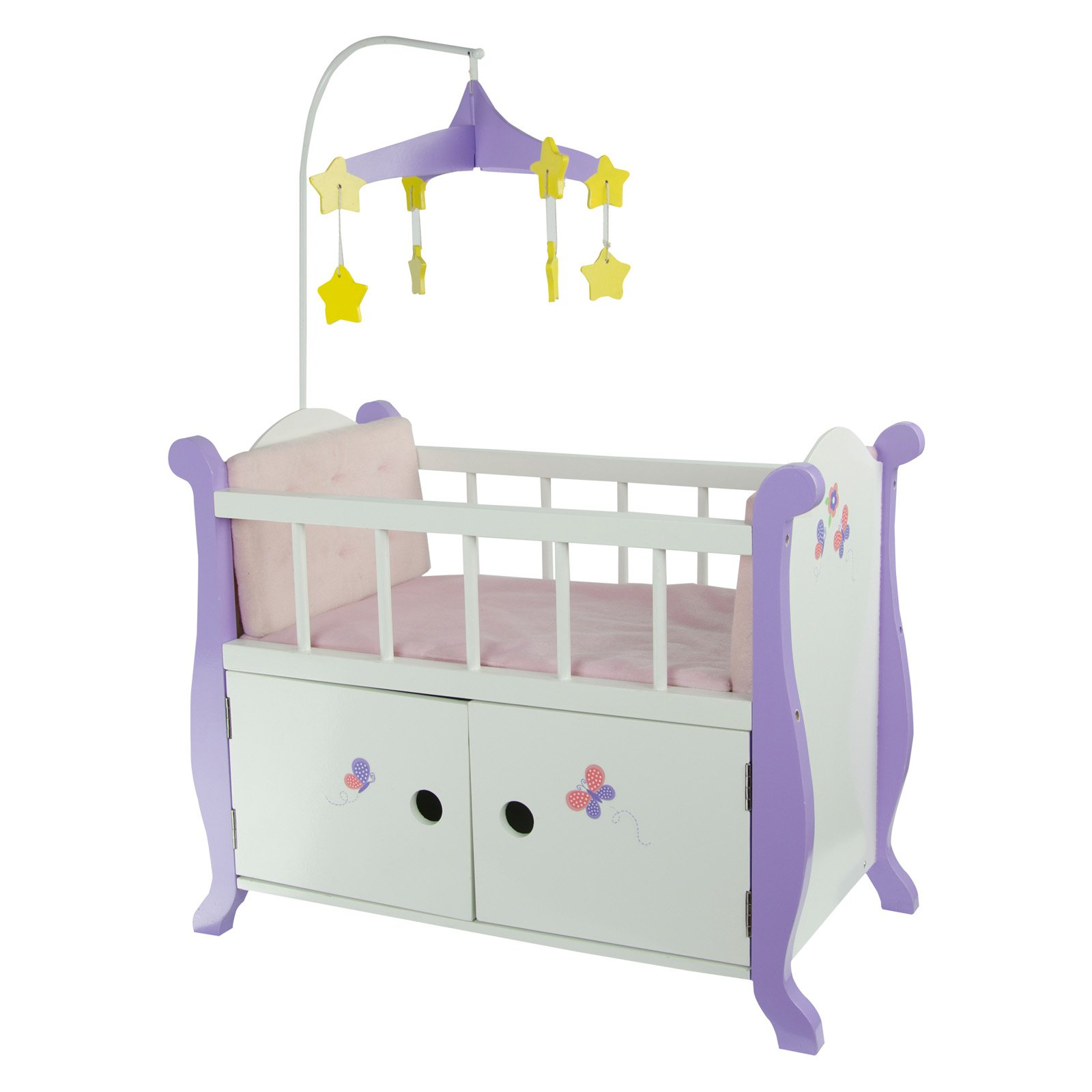 "Olivia's Little World - Little Princess 18"" Doll Baby Nursery Bed with Cabinet"