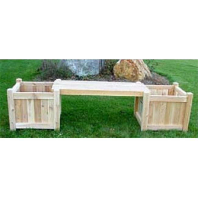 All Maine Bucket D520 2-18 Inch Cubes with 1 Bench without Lattice