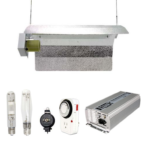 Virtual Sun VSD600WRDS 600 Watt HPS MH Grow Light Winged Reflector Hood Kit Digital Dimmable