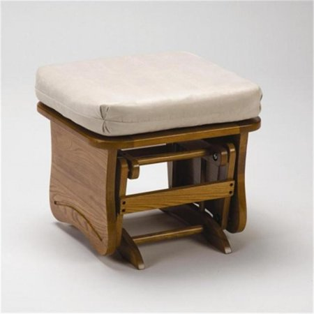 Brooks Furniture 1704magnumshell Light Oak Gliding Ottoman
