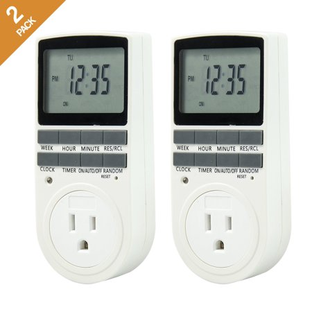 Comforday Small Digital Timer 15A/1800W 7 Day Programmable, 3 Prong Outlet, Smart Socket Plug in,2 Packs - image 6 of 6