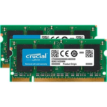 2Gb Kit  1Gbx2  Upgrade For A Hp  Walmartpaq Pavilion Dv9000 Series System  Ddr2 Pc2 5300  Non Ecc     200 Pin Sodimm By Crucial